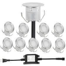 <b>10pcs</b>/lot <b>30mm</b> Width <b>Outdoor Garden</b> Lighting IP67 0.6W <b>LED</b> ...
