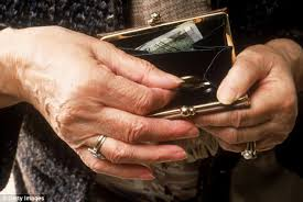 Image result for images for old woman spilling her purse