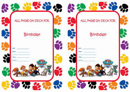 paw patrol birthday invitations com paw patrol birthday invitations by easiest invitation templates printable for having your fetching birthday 4