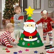 3D Cone <b>Shape</b> DIY Non-woven <b>Felt Christmas Tree</b> Home Hotel ...
