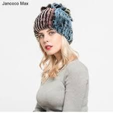 <b>Jancoco Max 2019</b> Women Winter Fashion Hats Genuine Rex ...