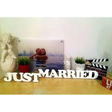 <b>Декоративные слова Just</b> Married из дерева - купить Спб, Москва ...