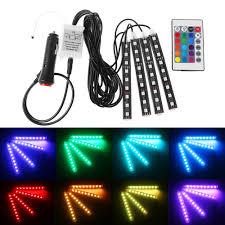 <b>Car</b> Parts Music Control RGB <b>LED Car Atmosphere</b> Neon Light Strip ...