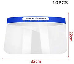 <b>Face Guard</b> Protective Shields Plastic <b>Adjustable Transparent</b> ...