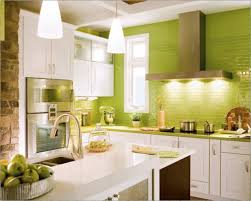 kitchen wall decor design awesome  kitchen green brick wall decor with white kitchen cabinets and green