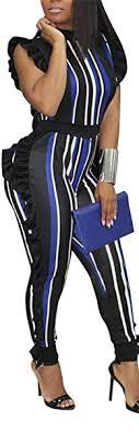 Amazon.com: Speedle <b>Womens Sleeveless Stripe</b> High Neck Ruffle ...