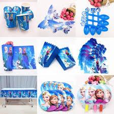 <b>108x180cm</b> party supplies Elsa&Anna Tablecloth Snow Queen cups ...