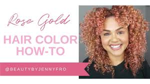 How To: Rose <b>Gold</b> Hair Color Using Wella <b>Color Charm</b> Paints ...
