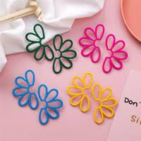 Discount Painted Earrings Flower