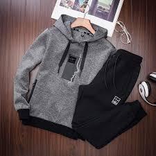 DX Sport wear <b>men's sports suit spring</b> autumn fashion pants ...