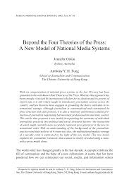 beyond the four theories of the press a new model of national beyond the four theories of the press a new model of national media systems pdf available