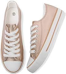 Adokoo Women's <b>Fashion</b> Sneakers PU Leather <b>Casual Shoes</b>