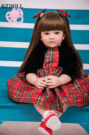 <b>60cm Silicone Reborn Baby</b> Doll Toys 24inch Vinyl Princess Toddler ...