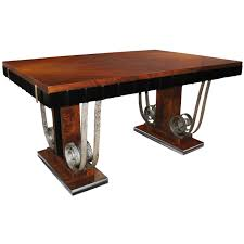 art deco mahogany dining suite