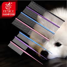<b>Fenice</b> Pet Grooming Comb for Dog Metal Tail Comb Cat Animals ...