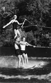 Image result for water skiing 50s