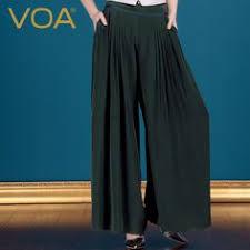 Find More Pants & Capris Information about <b>VOA</b> black heavy <b>silk</b> ...