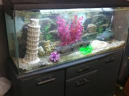 4 ft fishtank with grey cabinet and lighting unit 180 litres miscellaneous goods 2 cabinet and lighting