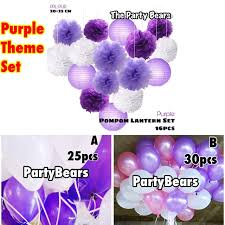 <b>Purple Birthday Party</b> Theme Set (Party <b>Decoration</b> Set) | Shopee ...