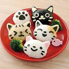 BangBang 4Pcs/Set PP Kawaii Cat Rice Mold Sushi ... - Amazon.com