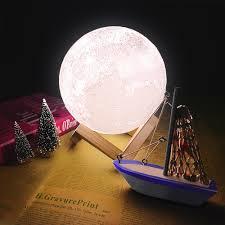 <b>CHIZAO 3D Print LED</b> Lamp Moon Earth Jupiter Home Bedroom ...