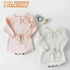 2019 <b>Baby Knitted Clothes</b> Spring <b>Knitting Baby</b> Rompers <b>Girl</b> ...