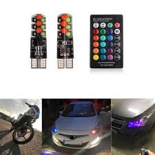 <b>2018 Led</b> W5W <b>T10</b> RGB Clearance <b>light</b> New Universal Car RGB ...
