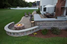 patio outdoor stone kitchen bar: interesting  diy fire pit and patio ideas to try keribrownhomes