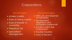 choosing a form of business ownership there s a good chance that 11 corporations advantages