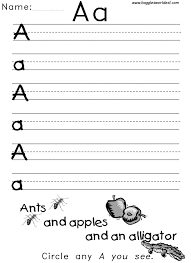 Letter A Alphabet WorksheetsBig and Little A Writing Worksheet