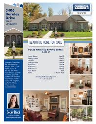 graphic design real estate adrienne kizer single sheet listing brochure and template