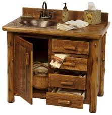 awesome captivating natural brown varnishes knotty hickory wood bathroom with rustic bathroom vanity awesome pottery barn bathroom vanity decor