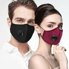 Antiviral <b>Sport</b> Dust <b>Face Mask</b> With 3 Valve & 2 Filter <b>Activated</b> ...