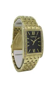 <b>Caravelle New York</b> 44L119 Women's Rectangular Roman Analog ...