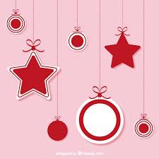 <b>Christmas hanging ornaments</b> Vector | Free Download