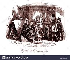 david copperfield by charles dickens illustration by phiz hablot david copperfield by charles dickens illustration by phiz hablot knight browne caption reads my aunt astonishes me hkb