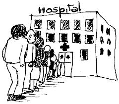 Resultado de imagem para fotos de pessoas em filas de hospitais