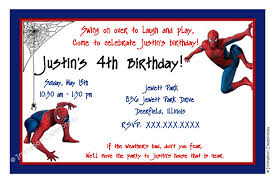 birthday party invitations printable card invitation ideas spiderman birthday invitations templates