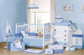baby nursery blue interior design ideas cute decorations small carpet chandelier desk chair boy furniture sets blue nursery furniture