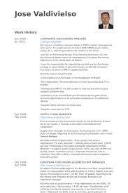 purchasing manager resume samples   visualcv resume samples databasecorporate purchasing manager resume samples