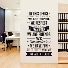 brand new 2016 hot new fashion quote wall sticker office rules vinyl decals we are a team for your wonderful office decor amazing wall quotes office