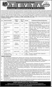 jobs in punjab technical education vocational training authority jobs in punjab technical education vocational training authority 01 2016