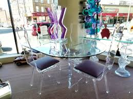perspex dining table chairs room  attractive dinning room design ideas with cream laminate flooring ova