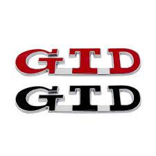 GTD 3D <b>Metal Emblem Car</b> Sticker <b>Badge Auto</b> Tail Decal <b>Car</b> ...