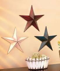 metal star wall decor: set of  metal stars  per set bring the red white and blue wall starsstars abcdecor