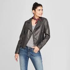 Women's <b>Faux Leather</b> Moto Jacket - <b>Universal</b> Thread™ : Target