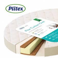 <b>Детский матрас Плитекс Flex</b> Cotton Oval ФК01/3 молочный с ...