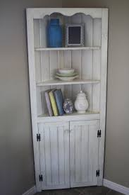 Corner Kitchen Hutch White Awesome White Kitchen Corner Cabinet 64 In With White Kitchen