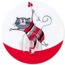 Аксессуары для ванной комнаты | <b>Крючок Tatkraft FUNNY CATS</b> ...