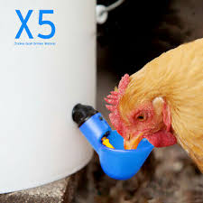<b>5pcs</b> Bird <b>Poultry</b> Drinker <b>Chicken</b> Waterer Chook Automatic Cups ...